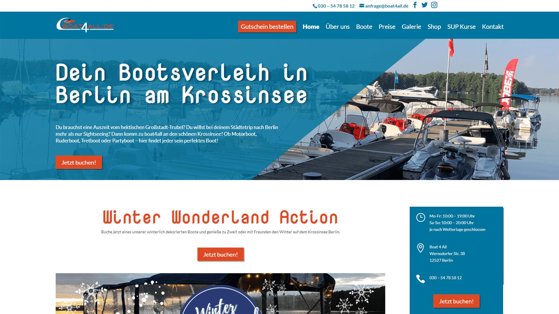 Referenz Boat4All Bootsverleih Berlin